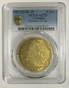 Click now to see the BUY IT NOW Price! COLOMBIA 1811 FERDND VII 8 ESCUDOS PCGS GOLD COIN