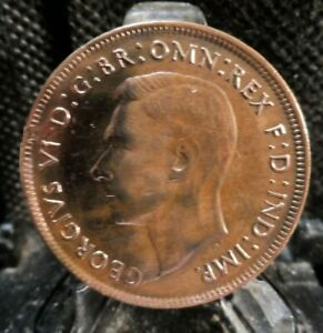 CIRCULATED 1944 1 PENNY AUSTRALIAN COIN  80619  FREE DOMESTIC SHIPPING