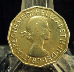 CIRCULATED 1956 3 PENCE UK COIN  62419 1 ..FREE DOMESTIC SHIPPING
