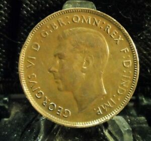 CIRCULATED 1941 1 PENNY AUSTRALIAN COIN  81619 1 FREE DOMESTIC SHIPPING