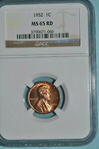 LINCOLN CENT 1952 P PCGS MS65 RD