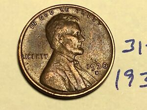 1938 S LINCOLN CENT1C WHEAT PENNY 3125K