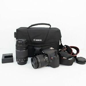 CANON REBEL T6 DIGITAL SLR CAMERA MEGA BUNDLE   BLACK