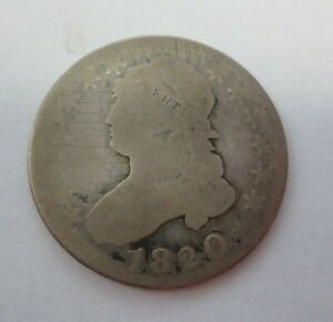 1820  LARGE 0  CAPPED BUST QUARTER  GRAFFITI