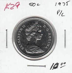 K29 CANADA 50C COIN 1975 PROOF LIKE   CHARLTON $10.00
