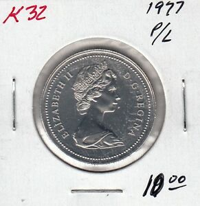 K32 CANADA 50C COIN 1977 PROOF LIKE   CHARLTON $10.00