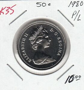 K35 CANADA 50C COIN 1980 PROOF LIKE   CHARLTON $10.00