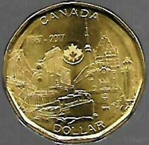 L163 CANADA $1.00 COIN 2017MM LOONIE FROM A MINT ROLL