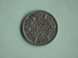 CIRCULATED 1934 SIXPENCE GEORGE V SILVER