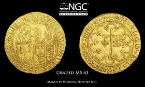 Click now to see the BUY IT NOW Price! ANGLO GALLIC. HENRY VI. 1422 1461. GOLD SALUTE DOR NGC MS63