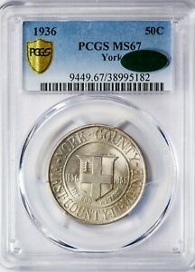 Click now to see the BUY IT NOW Price! 1936 50C YORK PCGS MS67  CAC VERIFIED  SILVER COMMEMORATIVE HALF DOLLAR