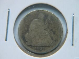 1838 O NO STARS SEATED LIBERTY DIME SEMI KEY DATE