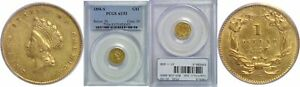 Click now to see the BUY IT NOW Price! 1856 S $1 GOLD COIN PCGS AU 53