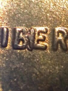 1955 S LINCOLN WHEAT CENT BIE DIE BREAK ERROR/VARIETY; NICE RED UNC.