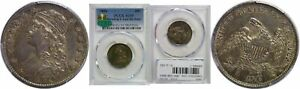 1834 BUST QUARTER PCGS AU 55 CAC BROWNING 1 LATE DIE STATE