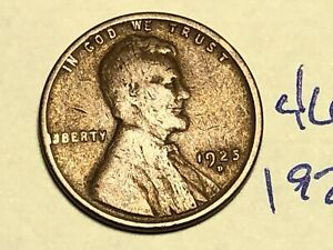 1925 D 1C BN LINCOLN CENT WHEAT PENNY 4680K