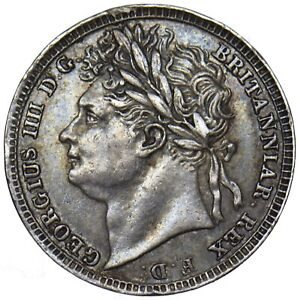 1822 MAUNDY PENNY 1D   GEORGE IV BRITISH SILVER COIN   V NICE