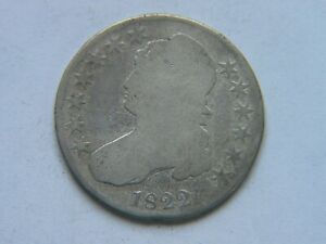 1822 CAPPED BUST  HALF DOLLAR  BETTER DATE PREVIOUSLY CLEANED