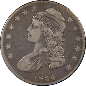 1834 BUST HALF DOLLAR O 117 R.2 S.S. S.L. GREAT DEALS FROM THE EXECUTIVE COIN CO