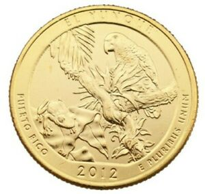 2012 EL YUNQUE 24KT GOLD PLATED QUARTER  D