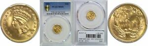 1889 $1 GOLD COIN PCGS MS 68