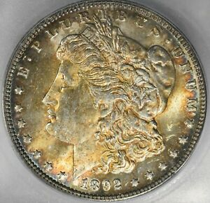 1892 O MORGAN SILVER $1 ICG MS64  BETTER DATE DOLLAR    THIS NICE