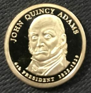 2008 S JOHN QUINCY ADAMS PRESIDENTIAL CAMEO PROOF DOLLAR