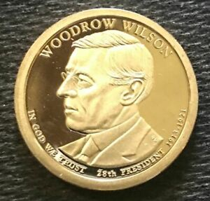 2013 S WOODROW WILSON PRESIDENTIAL CAMEO PROOF DOLLAR