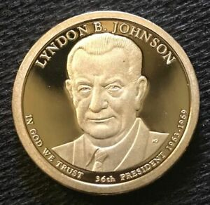 2015 S LYNDON JOHNSON PRESIDENTIAL CAMEO PROOF DOLLAR
