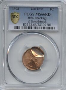 1998 1 20  BROCKAGE PCGS MS 66 RED