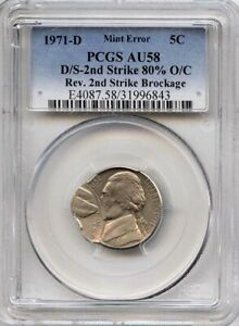 1971 5 DOUBLE STRUCK & BROCKAGE PCGS