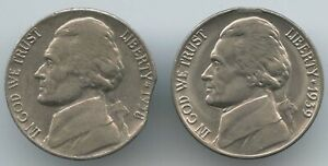2 PCS. 1938 D & 1939 P 5S  CLIPPED PLANCHETS