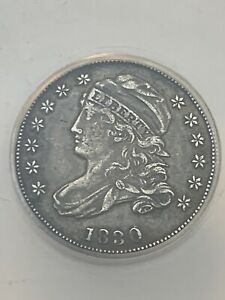 1830 CAPPED BUST DIME CERTIFIED EF 45 EXTRA FINE  SILVER 10 CENT ANACS GRADED