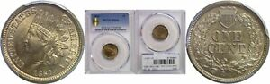 Click now to see the BUY IT NOW Price! 1860 INDIAN HEAD CENT PCGS MS 66