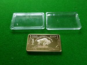 UNITED STATES AMERICA 1 ONE GOLD BULLION BAR TROY OUNCE  DECORATION ONLY  METAL