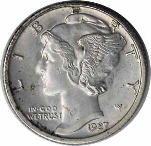 Click now to see the BUY IT NOW Price! 1927 S MERCURY SILVER DIME CHOICE BU FSB UNCERTIFIED