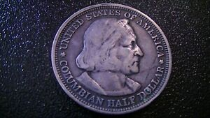 1893 COLUMBIAN EXPOSITION CHRISTOPHER COLUMBUS COMMEMORATIVE HALF DOLLAR COIN