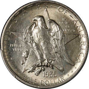1935 TEXAS COMMEM HALF DOLLAR PCGS MS65 GREAT EYE APPEAL STRONG STRIKE
