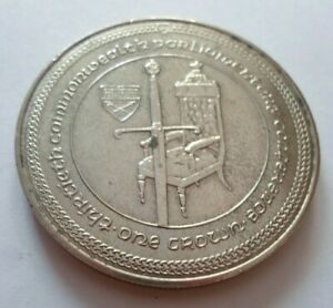 ISLE OF MAN IOM ONE CROWN 1 OZ COIN 1984  COMMONWEALTH PARLIAMENTARY CONFERENCE
