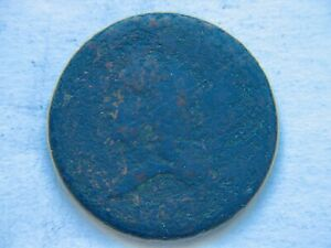 1793 1/2C HEAD LEFT LIBERTY CAP HALF CENT FULL DATE HOLE FILLER DISCOUNT PRICED