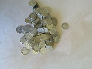 LOT OF 100 ROOSEVELT 90  SILVER DIMES 1946 1964 $10 FACE VALUE USA COINS