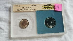 ROOSEVELT DIME   1955 S   SEALED CASE