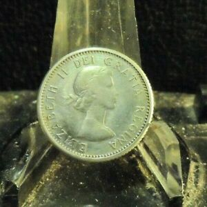 CIRCULATED 1961 10 CENTS CANADIAN COIN  81619 1 FREE DOMESTIC SHIPPING