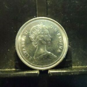 CIRCULATED 1987 10 CENTS CANADIAN COIN  90119 1 FREE DOMESTIC SHIPPING