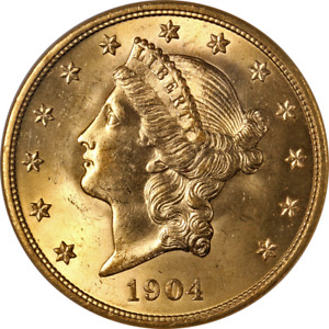 1904 P LIBERTY GOLD $20 NGC MS65 SUPERB EYE APPEAL STRONG STRIKE
