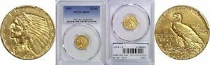 1929 $2 1/2 DOLLAR LIBERTY HEAD GOLD COIN PCGS MS 62