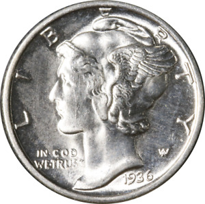 1936 P MERCURY DIME GREAT DEALS FROM THE EXECUTIVE COIN COMPANY