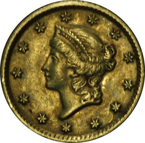 1854 $1 GOLD LIBERTY HEAD TYPE 1 XF CONDITION   GENUINE