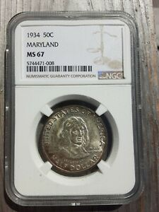 Click now to see the BUY IT NOW Price! 1934 MARYLAND COMMEMORATIVE HALF DOLLAR NGC GRADED MS67