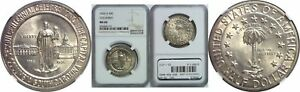 1936 D COLUMBIA SILVER COMMEMORATIVE NGC MS 66